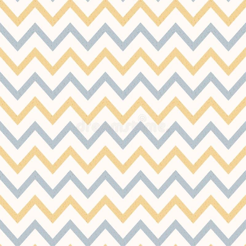 Le cru Zig Zag texturisé de couleur en pastel a barré le fond illustration de vecteur
