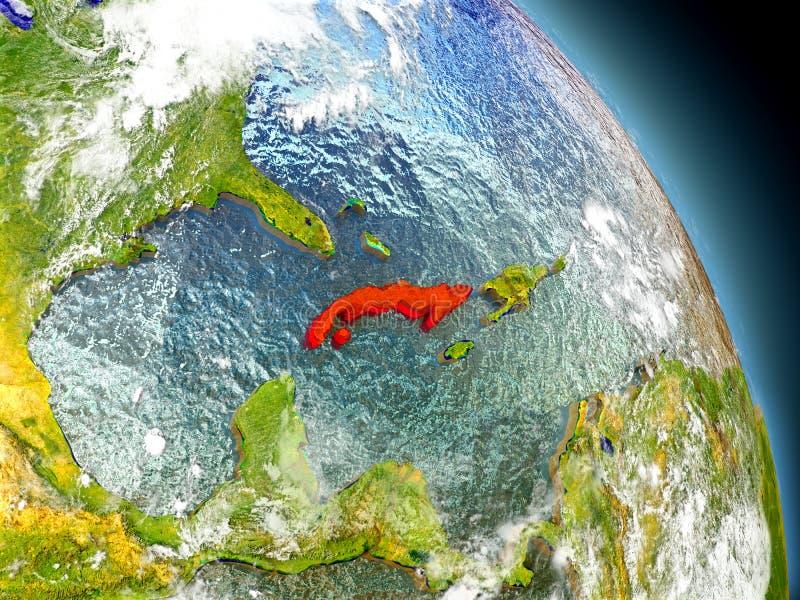 Le Cuba de l'espace illustration stock
