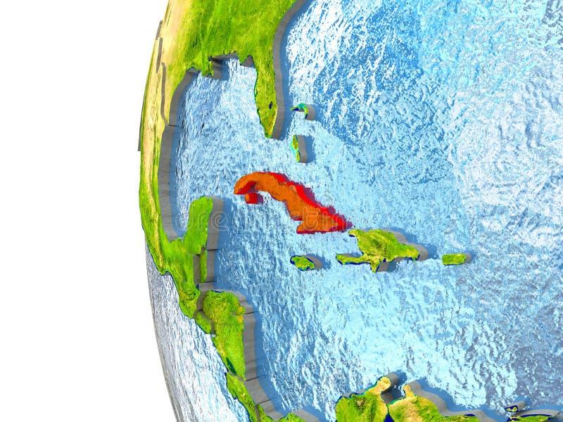 Le Cuba en rouge illustration libre de droits