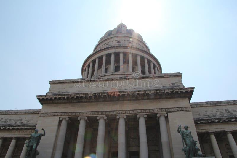 Le Cuba, Habana, centre de la vieille ville, bâtiment de capitol images libres de droits