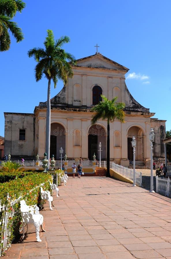 Le Cuba : L'église historique en Trinidad City photo libre de droits