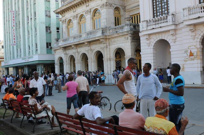 Le Cuba : La place principale de Santa Clara City un dimanche photos libres de droits