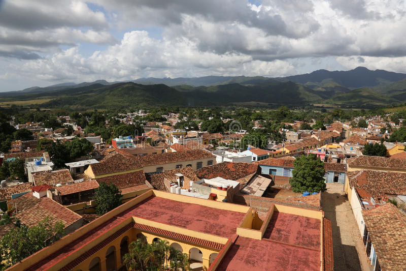 Le Cuba, Trinidad Panorama photographie stock libre de droits
