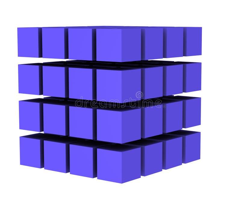 Le cube 3 illustration stock