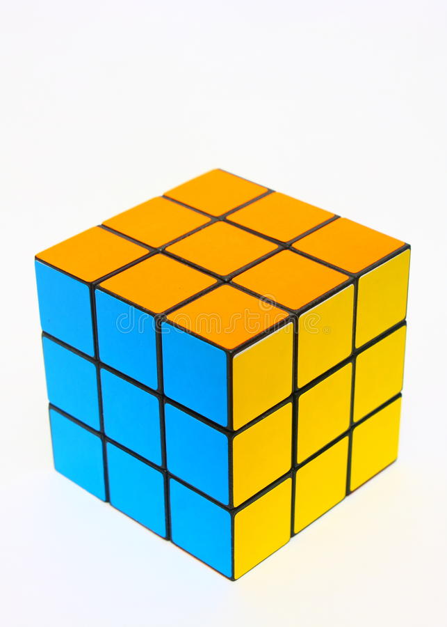 Le cube de Rubik photographie stock libre de droits