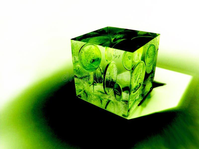 Le cube en argent illustration de vecteur