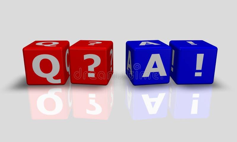 Le cube exprime Q&A illustration libre de droits