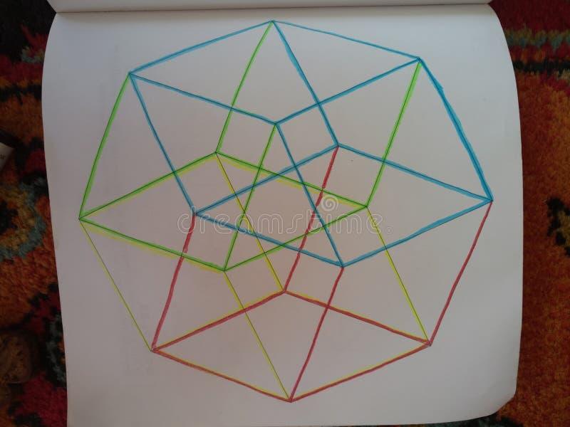 Le cube hyper est une chose impressionnante belle vraiment photo stock