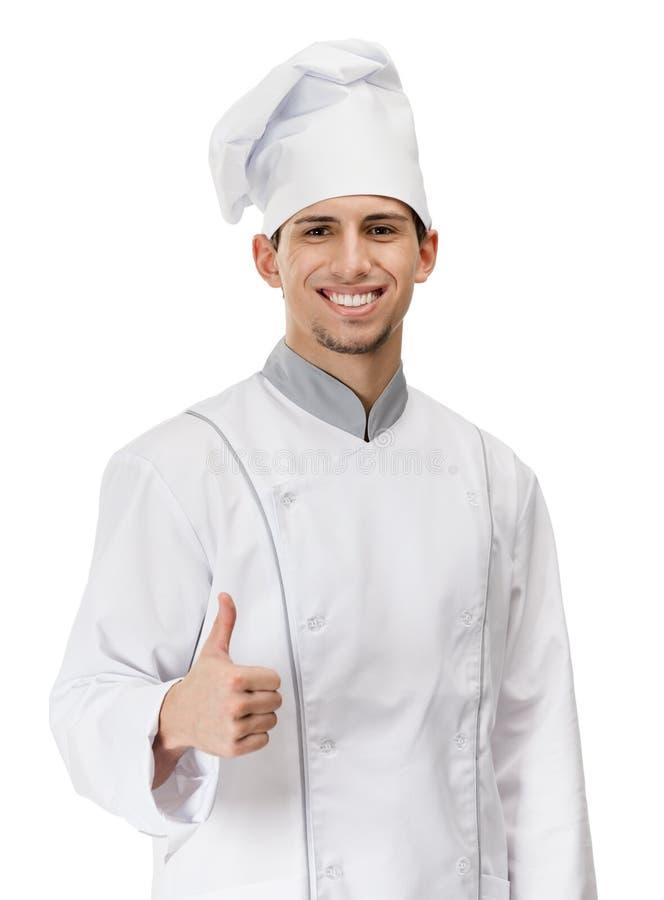 Le cuisinier de chef manie maladroitement  image libre de droits