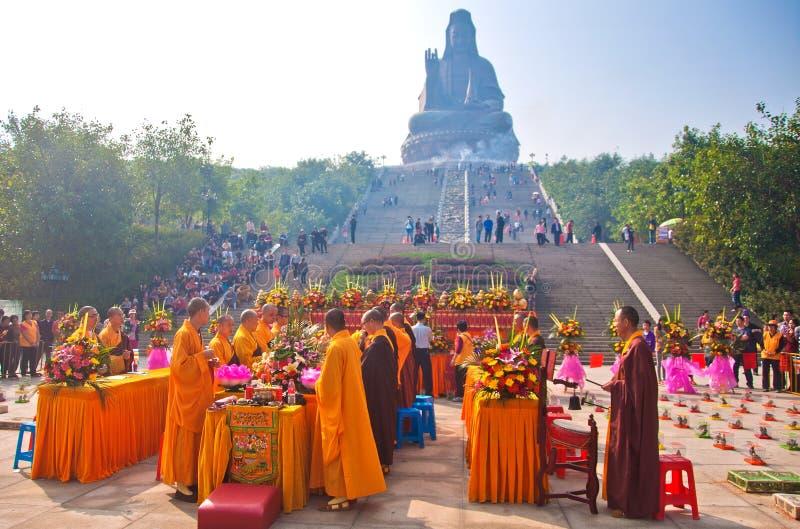 Le culte d'un godness Guanyin de Buddism image libre de droits