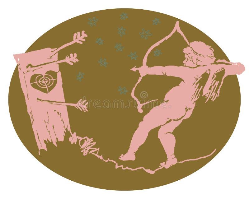 Le cupidon maladroit illustration libre de droits