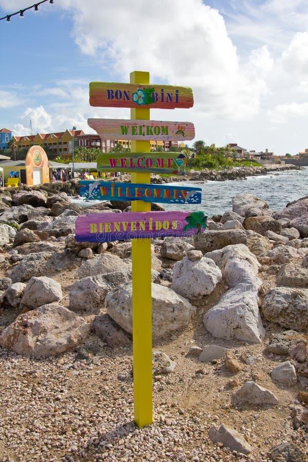 Le Curaçao, Willemstad images libres de droits