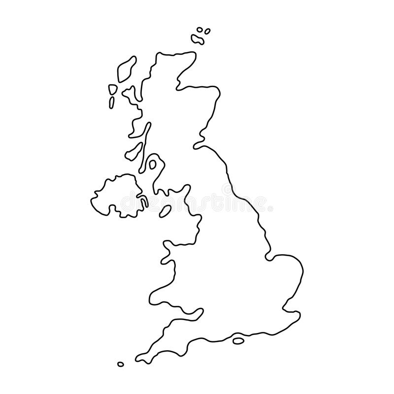 Cartina Gran Bretagna Bianco E Nero.Le Curve Di Contorno Del Nero Della Mappa Del Regno Unito Di Gran Bretagna E Irlanda Del Nord Dell Illustrazione Illustrazione Di Stock Illustrazione Di Contorno Geografia 93725759