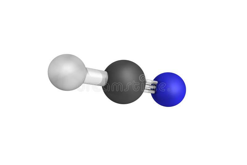 Le cyanure d'hydrogène, produit sur une échelle industrielle et est un highl image libre de droits