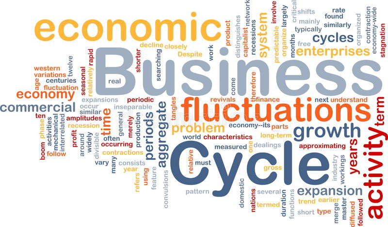 Le cycle économique est concept de fond d'os illustration libre de droits