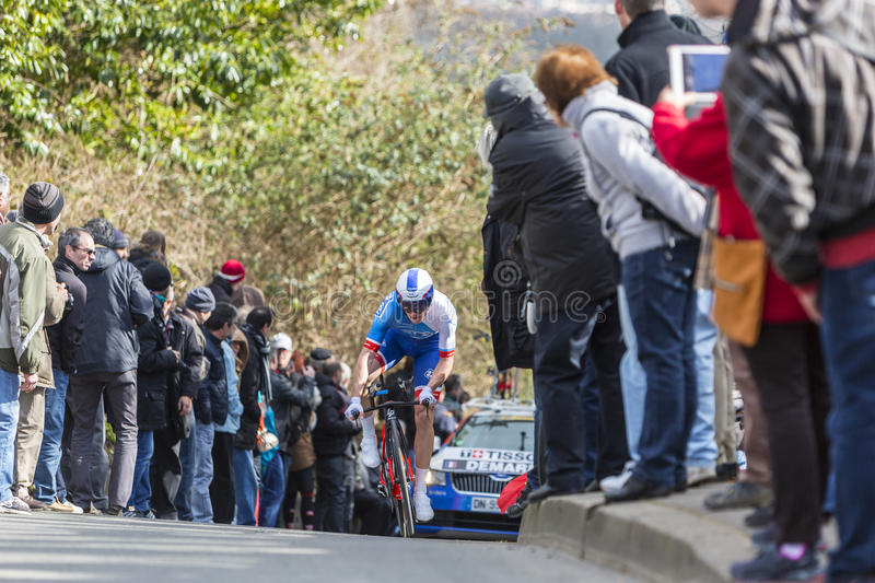 Le cycliste Arnaud Demare - 2016 Paris-gentil photo stock