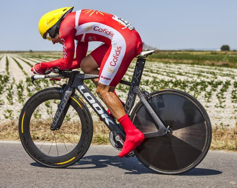 Le Cycliste Christophe Le Mevel Image éditorial