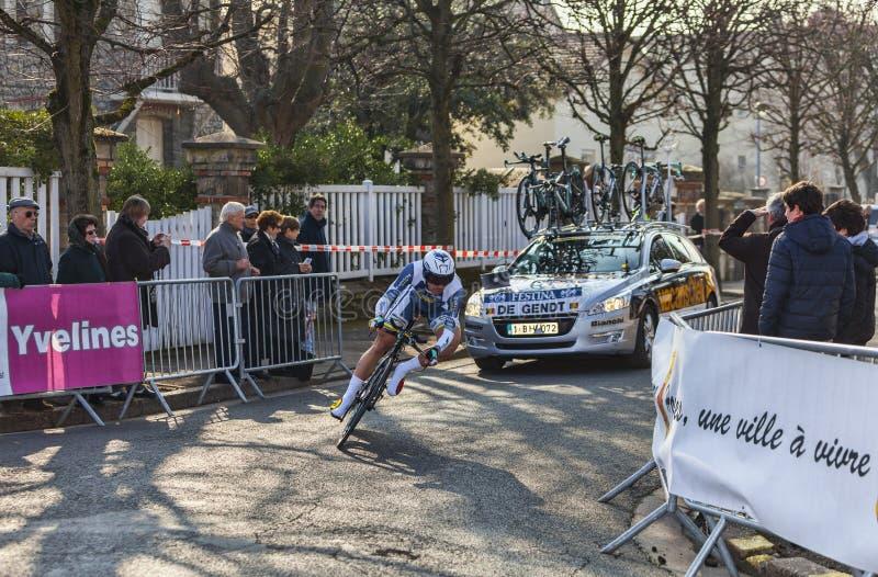 Le Cycliste De Gendt Thomas Paris Nice Prolo 2013 Image éditorial