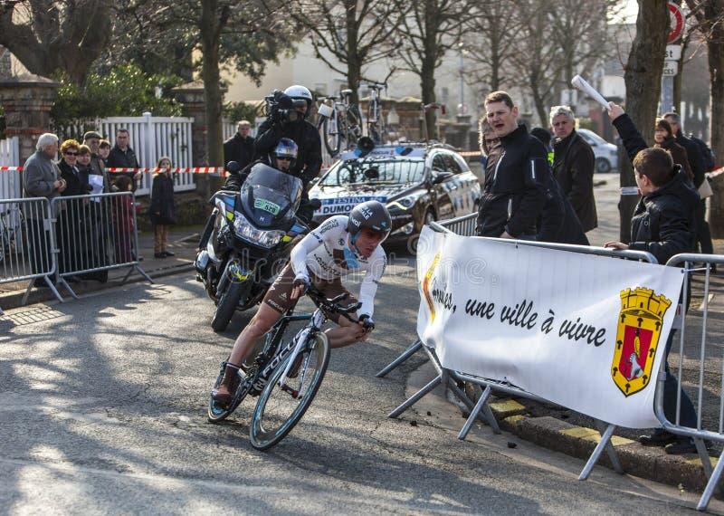 Le Cycliste Dumoulin Samuel Paris Nice Prolo 2013 Photo stock éditorial