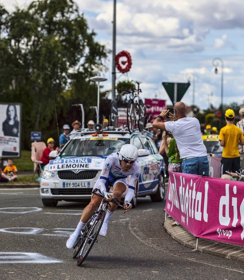 Le Cycliste Français Cyril Lemoine Image éditorial