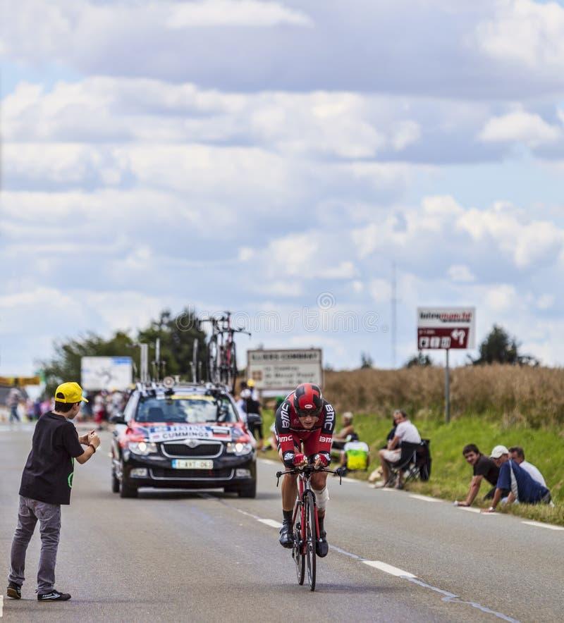 Le cycliste Steve Cummings photo libre de droits