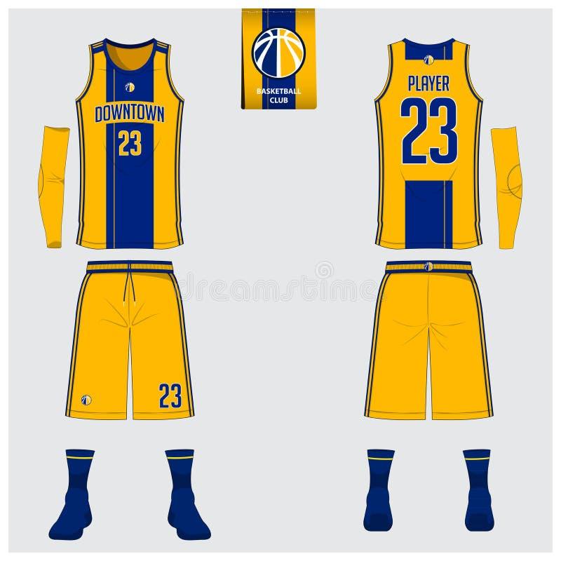 Le débardeur de basket-ball, shorts, cogne le calibre pour le club de basket-ball illustration de vecteur