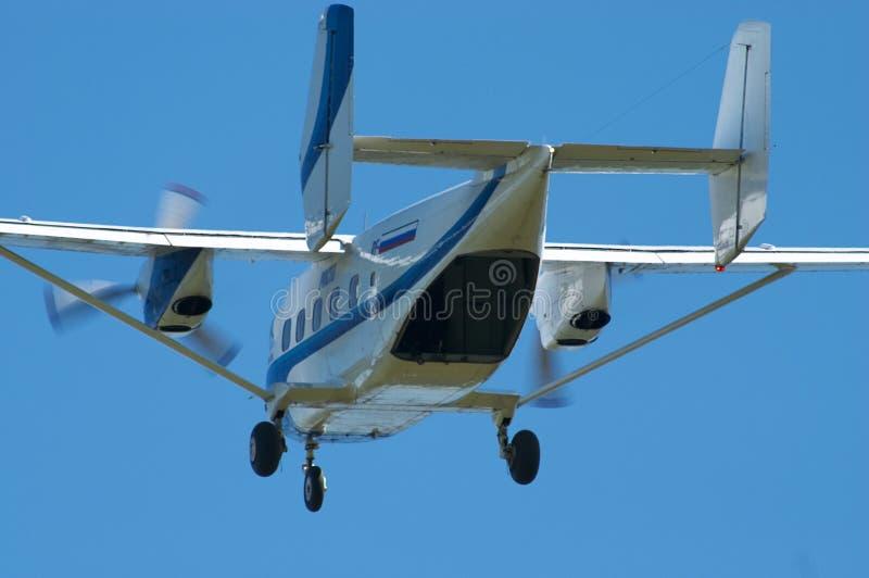 Le décollage plat du Skydiver photos libres de droits