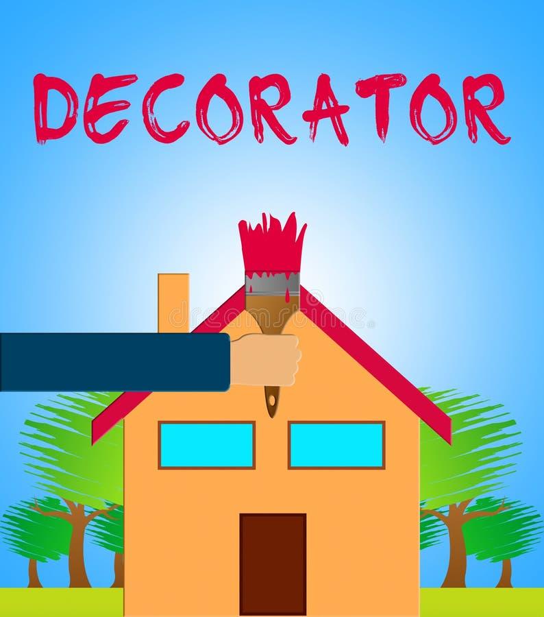 Le décorateur à la maison veut dire l'illustration de la peinture 3d de Chambre illustration libre de droits