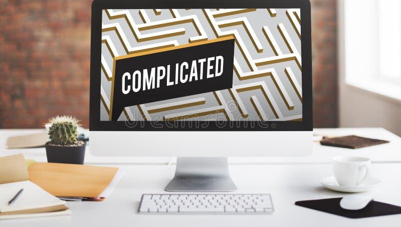 Le défi analysent Maze Concept compliqué images stock