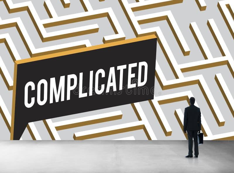 Le défi analysent Maze Concept compliqué photo stock