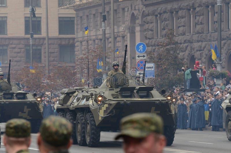 Le défilé à Kiev le jour de l'indépendance de l'Ukraine le 24 août 2016 images stock