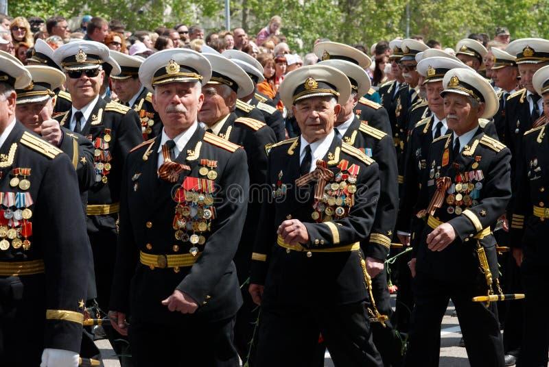Le défilé du vétéran russe. photo libre de droits