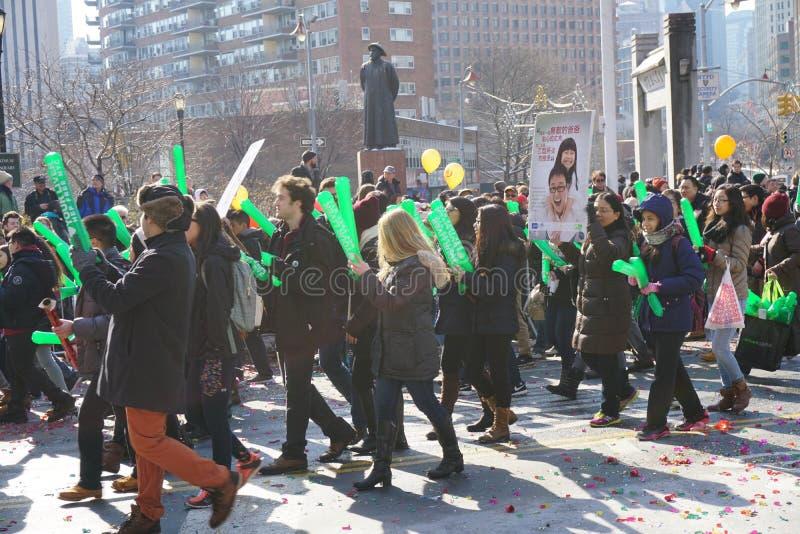 Le défilé lunaire chinois 144 de la nouvelle année 2015 images libres de droits