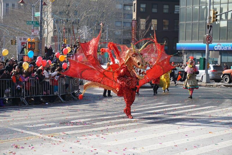 Le défilé lunaire chinois 169 de la nouvelle année 2015 photographie stock libre de droits