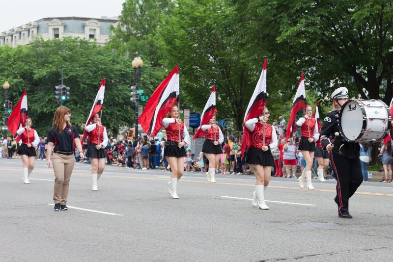 Le défilé national de Memorial Day image libre de droits
