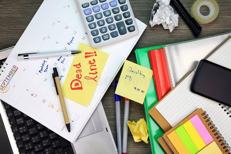 Le délai d'affaires, gestion d'organisation de planificateur de calendrier rappellent le concept photo stock