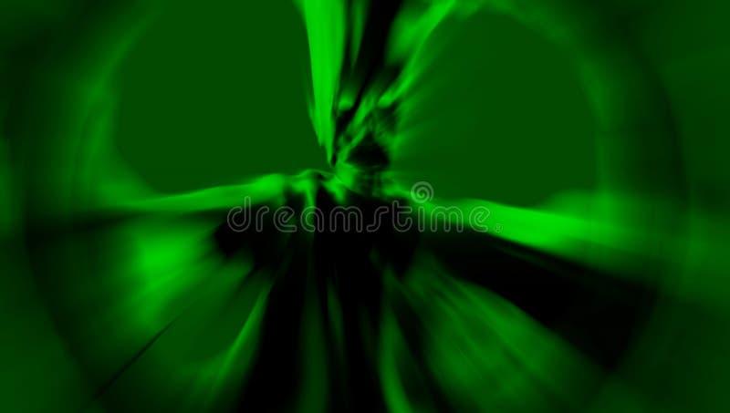 Le démon effrayant vert se tient dans un rayon de lumière illustration 3D illustration de vecteur