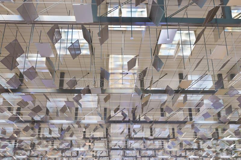 Le détail architectural abstrait est plafond image libre de droits