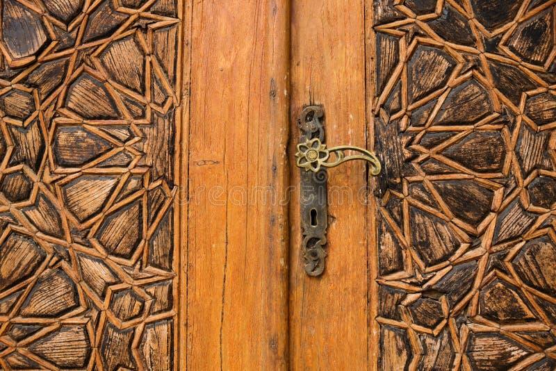 Le détail d'une porte avec les ornements arabes chez Emir Bachir Chahabi Palace Beit ed-dinent dans le bâti Liban Moyen-Orient, L photographie stock