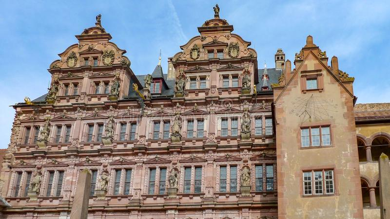 Le détail de façade du castlee d'Heidelberg à Heidelberg, Allemagne photo stock