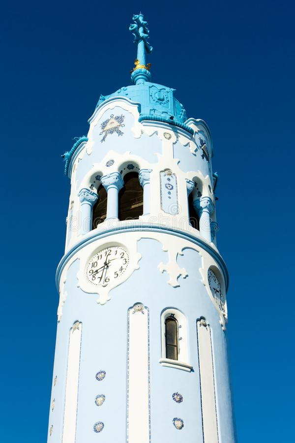 le détail de l'église du saint Elizabeth Hungarian a appelé Blue Church photos libres de droits