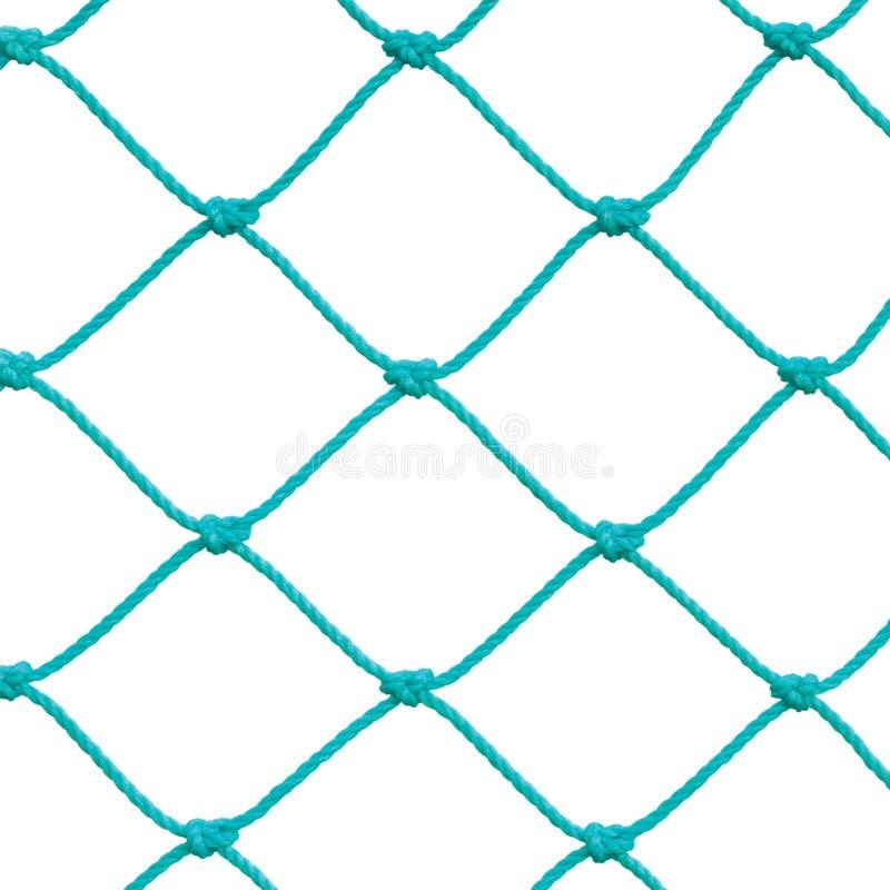 Le détail net réglé de corde de poteau de but du football du football, nouvelle fabrication verte de Goalnet Ropes détaillé d'iso photos stock