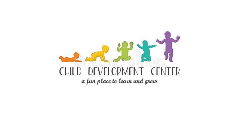 Le développement de bébé présente des étapes importantes un premier an Étapes importantes d'enfant de première année illustration libre de droits