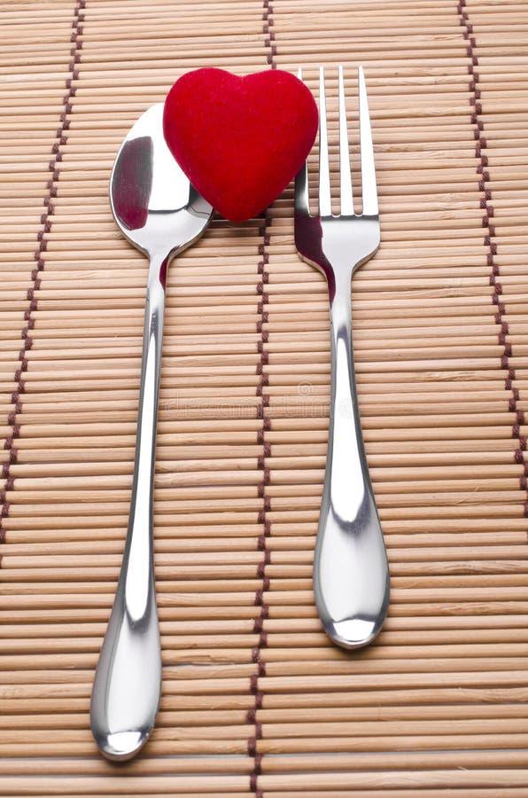 Le dîner d'amour est servi photographie stock libre de droits