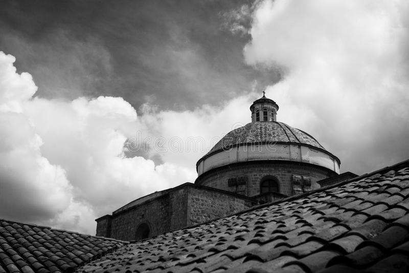 Le dôme de l'église de Compania de La, Cusco, Pérou image stock