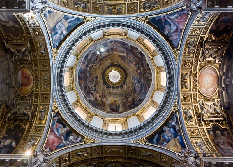 Le dôme de la La Maggiore Santa Maria image libre de droits