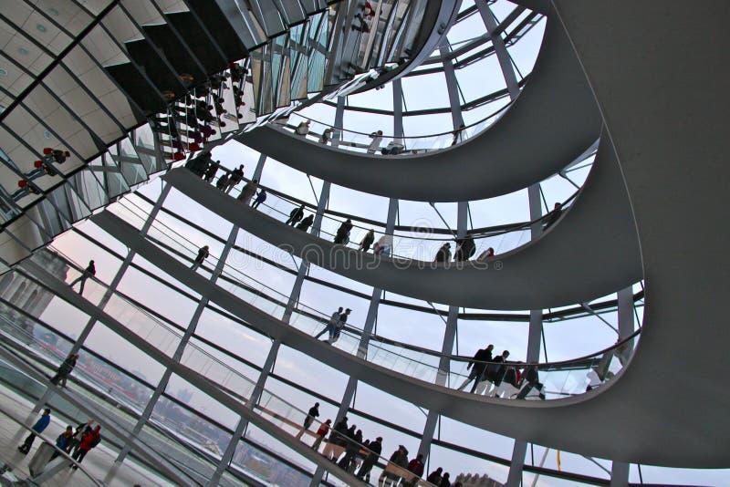 Le dôme de Reichstag, Berlin images stock