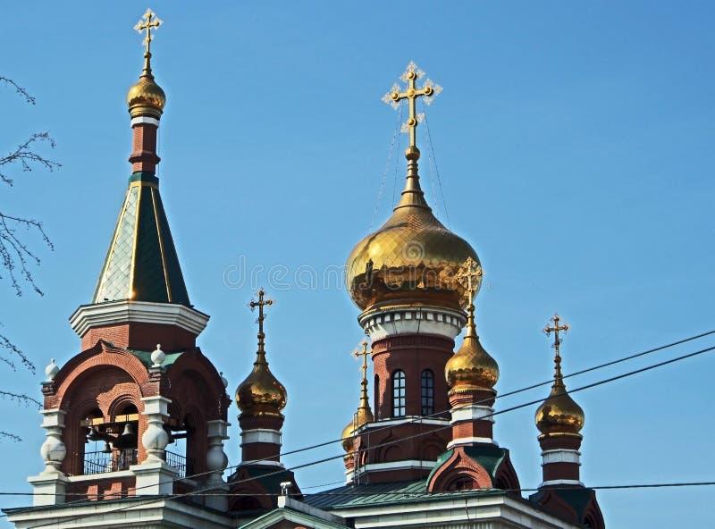 Le d?me du temple du grand martyre saint George le victorieux image stock