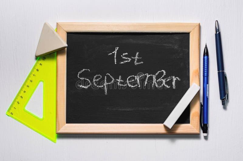 Le ` d'inscription les premiers du ` de septembre photo stock