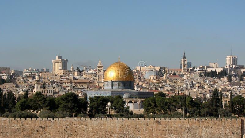 Le dôme de la roche en Esplanade des mosquées, Jérusalem, Israël photographie stock libre de droits